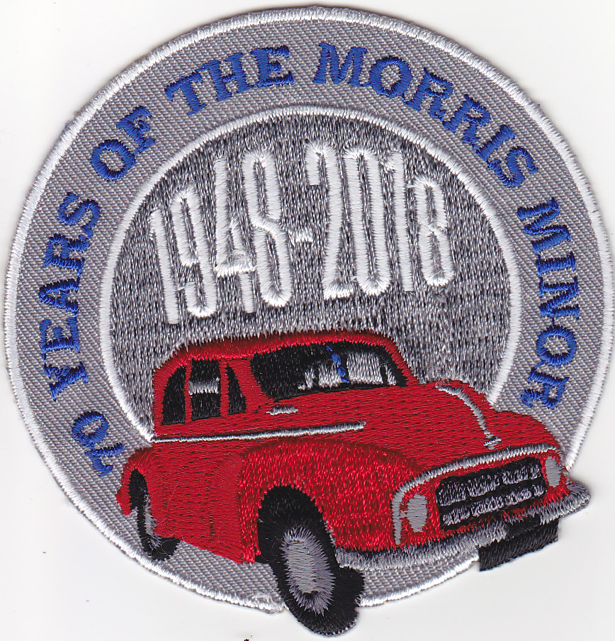 70th Anniversary Sew Iron on badge