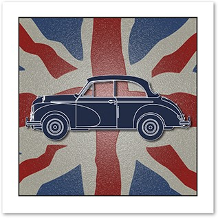 Greeting Card-Union Flag & Saloon