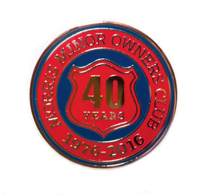 MMOC 40th Anniversary Enamel Grille Badge